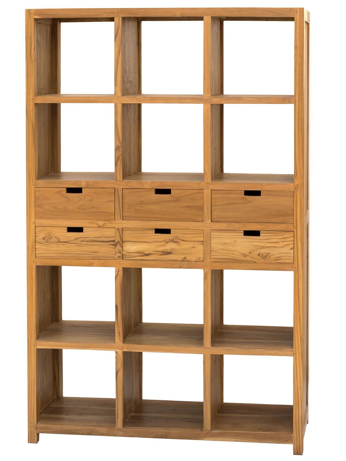 biblioth que 6 tiroirs la case d co. Black Bedroom Furniture Sets. Home Design Ideas